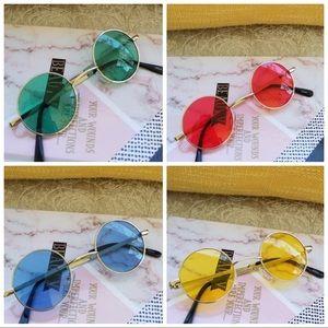 Round vintage Multi-Color Round Sunglasses